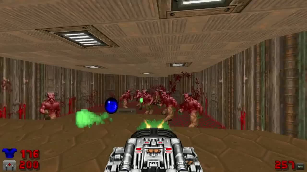 Is that you, John Romero?. Source is Civvie 11's Pro Doom II www.youtube.com/watch?v=PRI2rTwvWfk Shorter version if anyone wants it.. I love civie11. He puts out good quality content weekly. Whe MN he gets to 100k subs he's going to do Duke Nukem Forever. There's also an achievement for findin