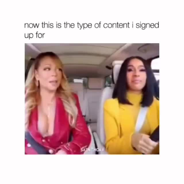 drive. .. Is that cardi b and Mariah Carey driving?