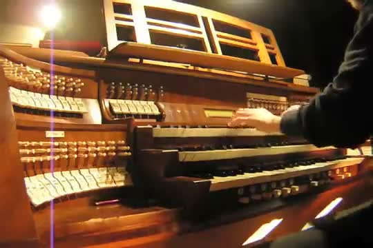 "heard you like organs. join list: neato (1236 subs)Mention History.. the girl in video says: ""in church?"" the older guy says: ""play something more serious, or someone will come and say that's profanation"""