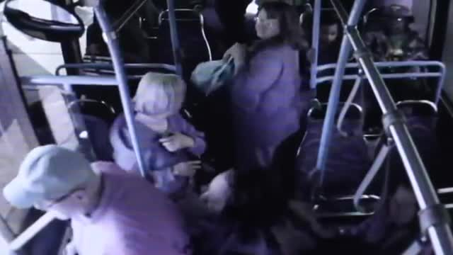 Woman pushes 74 year old man off the bus. .. The man had 74 years of life and it ends because the mongrel that shoved him behaved like a goddamn child with a temper tantrum.