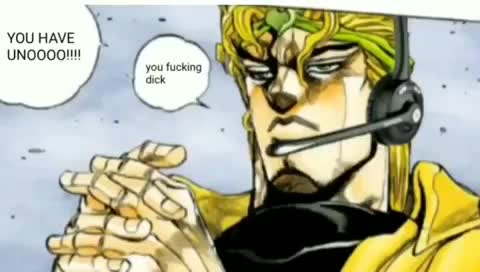 I don't have Uno...so off.. Sound warning btw. a bit loud... star platinum and the world have the same type of card game