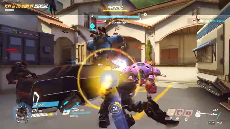 Save of the game. .. that hanzo killed himself on the junkrats post-death grenades