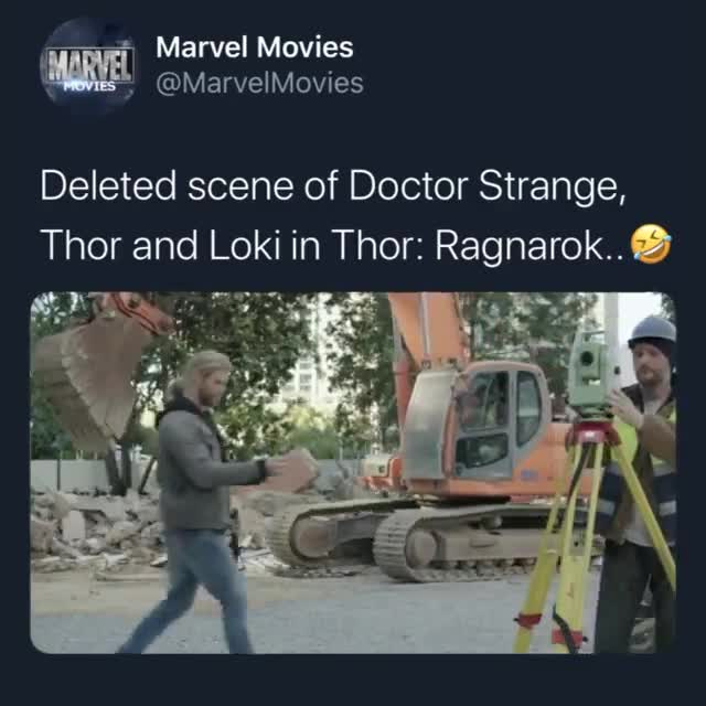 beleated interaction. .. Thor ragnorock they replaced it with a different joke.