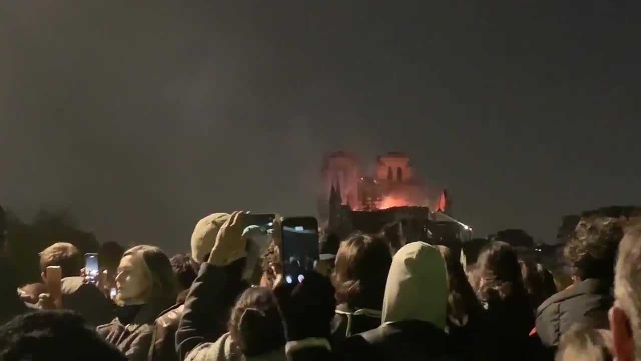 songs as NotreDame burns. .. rebuild her, most everything was saved and moved cause renovations, fix her and build her back up. Embrace greater faith!