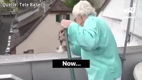 "Grandma Patrols Thots. .. ""And so it happened."""